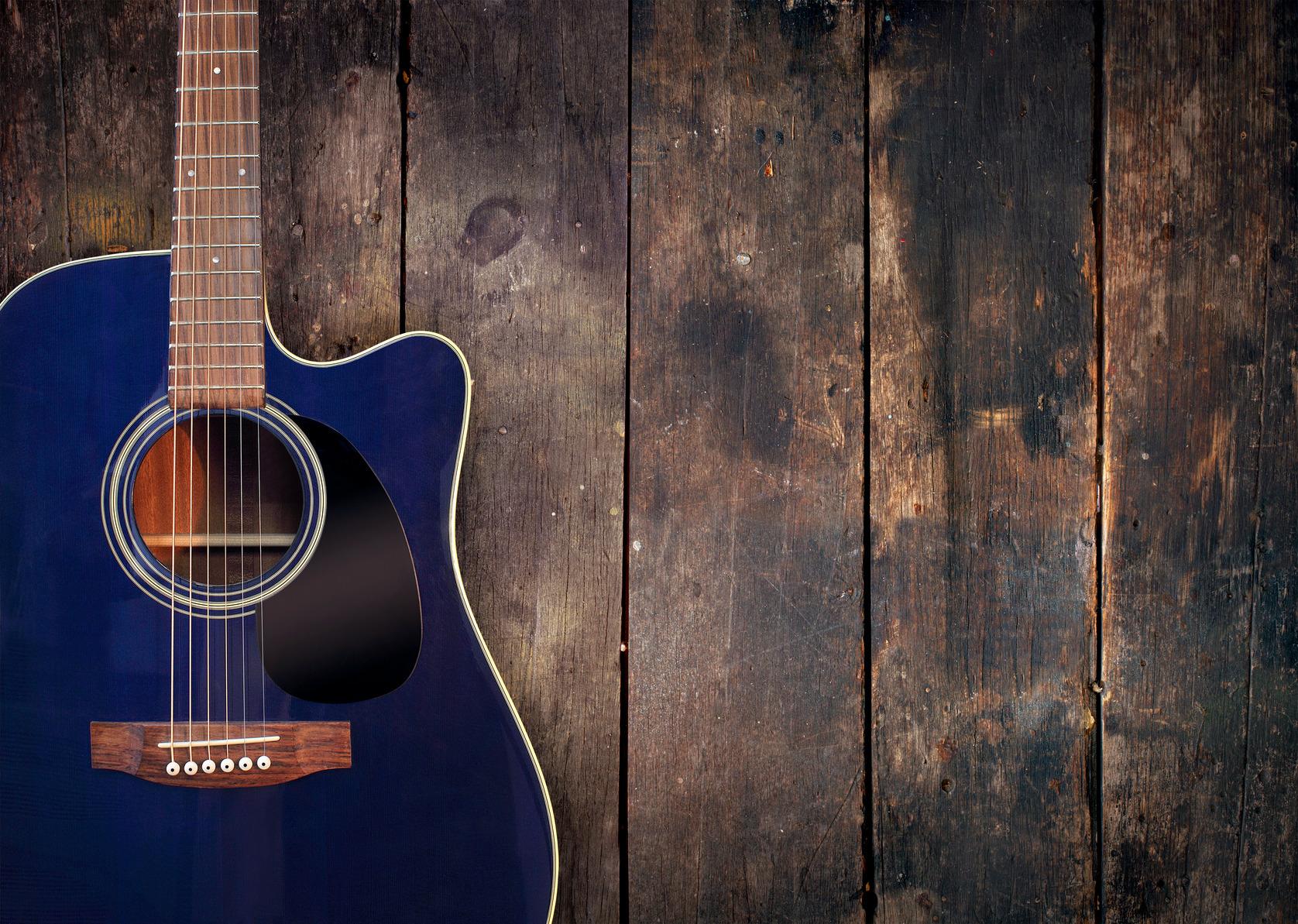 Photodune 652099 Acoustic Guitar On Wood M