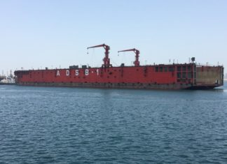 ADSB commissions floating dock