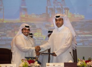Signing of the joint venture deal between Mwani Qatar and Milaha