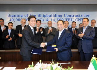 Major shipbuilding deal signed between IRISL and HHI