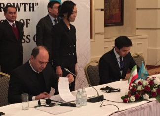 New joint venture agreement signed by executives of IRISL executives and KTZ Express