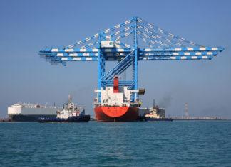 Khalifa Port receives three new cranes
