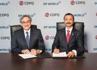 New port investment agreement signed by DP World Group Chairman & CEO Sultan Ahmed Bin Sulayem and CDPQ CEO Michael Sabba