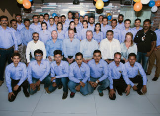 Trelleborg India staff celebrate moving to bigger, more modern premises