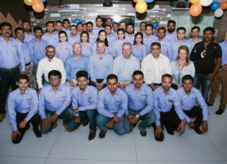 Trelleborg India staff celebrate moving to bigger, more modern premises
