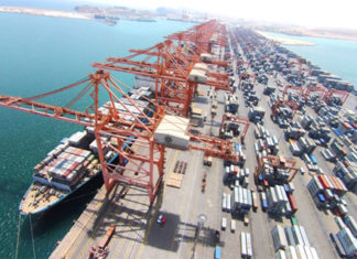 Container traffic is once again on the up at Salalah