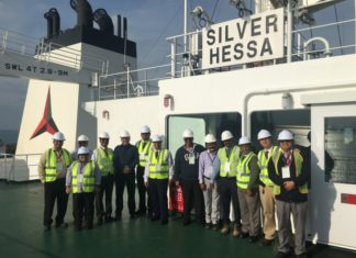 Tristar and Eships managers onboard the Silver Hessa