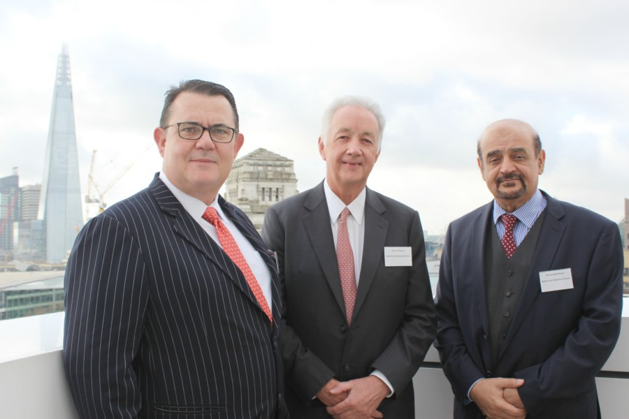 From left to right, Terry Gidlaw, chief executive, Duncan Ramsey, Chairman, and Sharafuddin Sharaf, founding partner, Waterfront Maritime Services