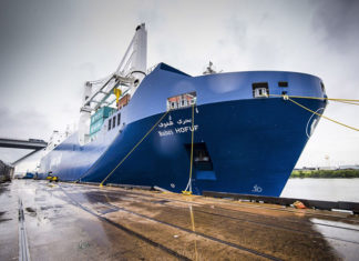 Bahri's ro-ro container ships call regularly in Houston