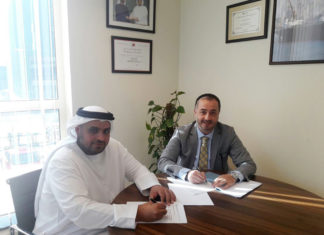 From left to right: Rashed Almehairbi, director, procurement, DDW-D, and Ruchan Cıvgın, commercial director, Sanmar