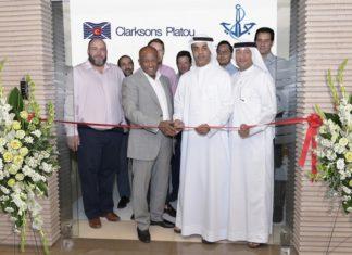 Essam Bella and Amer Ali officially open the new Clarkson Plato office in Dubai