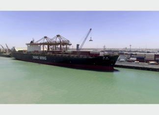 YM Wealth is the biggest container vessel yet to call at an Iraqi port