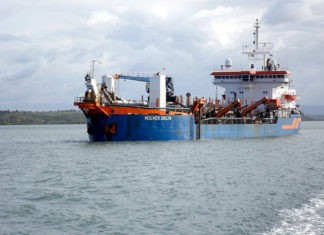 Volvox Delta, one of two Van Oord dredgers that will be deployed to dredge at Kandla port