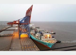 Maersk Gibraltar alongside at Pipavav