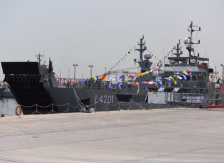 The landing craft Sabhan is the latest vessel to be delivered by ADSB to Kuwait