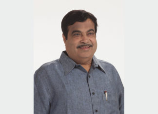 India's Minister for Road Transport & Highways and Shipping, Shri Nitin Gadkari