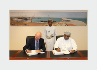 SEZAD officials signing the construction agreement with Boskalis Westminster
