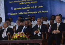 Construction starts on cable layer at Colombo Dockyard