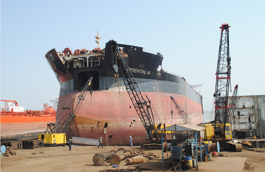 The Alang-Sonia ship recycling complex will be upgraded to improve environmental performance