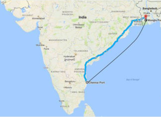 The new ro-ro route between India and Bangladesh is expected to reduce traffic congestion