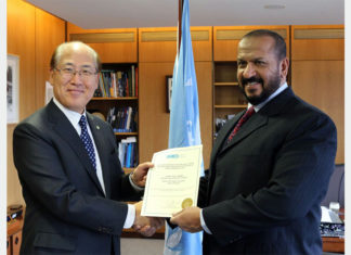 Ki Tack Lim, Secretary General IMO and H.E. Sheikh Talal Al Khaled Al Sabah, CEO, KOTC