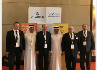 DP World and SCZone executives outlined the benefits of the Sokhna project to Dubai-based companies and investors