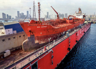 ADSB's Mina Zayed floating dock has achieved high levels of utilisation this year