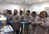 SGS Gulf inspectors learn how to use aqua-tools' B-Qua water monitoring equipment at their Dubai laboratory