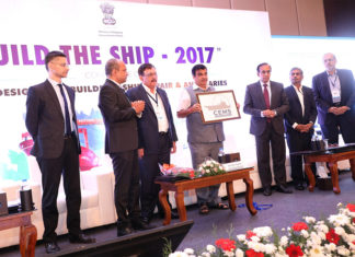 India's Minister of Shipping, Shri Nitin Gadkari, attending the launch of the CEMS initiative