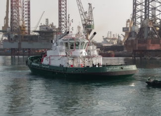 The new LNG powered tug operating at Dubai Drydocks has been classified by Tasneef