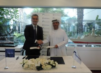 Dr. Khaled Al Mazrouei, chief executive of ADSB, and Leo Pantazopoulos, Rolls-Royce's senior vice president, Asia and Middle East, signed a supply chain Memorandum of Understanding this January