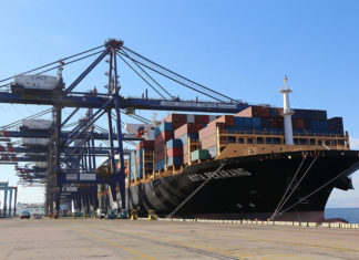 Kota Pekarang making its maiden voyage for PIL into Aqaba port