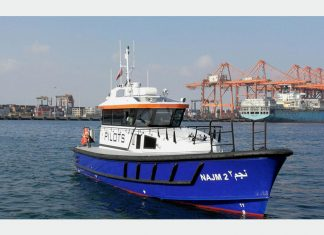 The new pilot boat, Najm 2