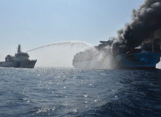 Maersk Honam has been badly damaged in a fire that also caused fatalities