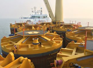 Jumbo Javelin delivering piles for the new LNG terminal in the Bay of Bengal