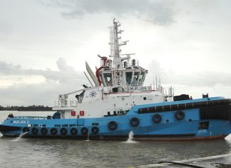 Murjan 2, one of four new tugs delivered to Star Marine for operation in the port of Rabigh