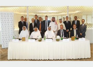 Executives from NOGA and Smit Lamnalco attending the contract signing ceremony
