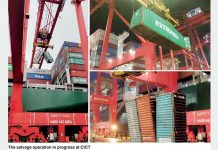 CICT helps stricken containership