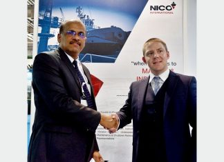 Prakash Kumar, general manager, Nico International, with Chris McMenemy, managing director, Cleanship Solutions