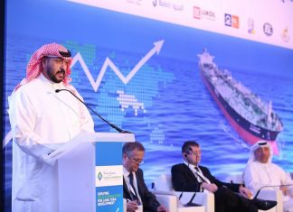 H.E. Sheikh Talal Al Khaled Al Sabah, chief executive, KOTC delivering the keynote speech at The Maritime Standard Tanker Conference 2017