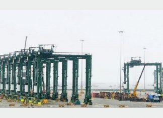BMCT has recently taken delivery of 9 new RTG cranes