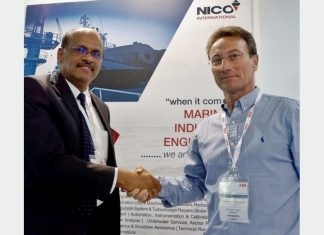 Prakash Kumar, General Manager, Nico International, with Antonio Trani, General Manager of Teknoship