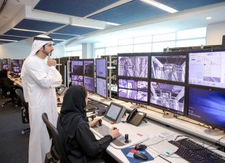 H.H Sheikh Hamdan met Emirati women working in the DP World Central Control Room at Jebel Ali port