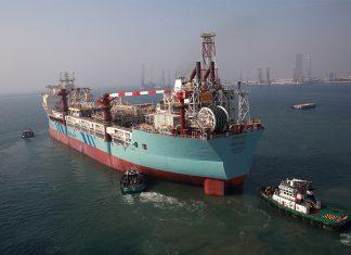 FPSO AokaMizu sailing away from Drydocks World Dubai