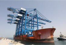 First Cosco Shipping terminal cranes arrive in Abu Dhabi
