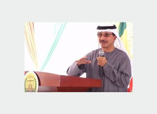 Sultan Ahmed Bin Sulayem at the ground breaking ceremony for the DP World Berbera project