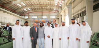 Group photo taken at the official opening of Albwardy Damen's new yard at DMC