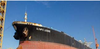 Springfield Shipping's Olympic Legend docked in Duqm