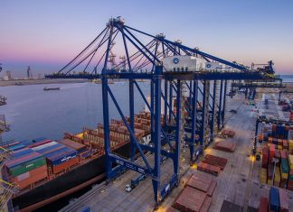 More container handling equipment is on order for the Hutchison Ports Pakistan terminal in Karachi