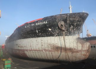 The Greek tanker, VL Sakura, operated by Hellenic Tankers, recently docked at ODC for general repairs, getting 2019 off to a good start for the Duqm yard